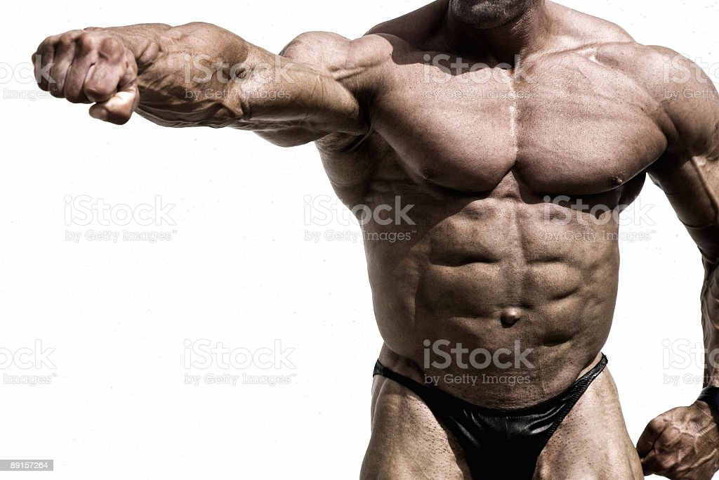 Beautiful muscular body stock photo