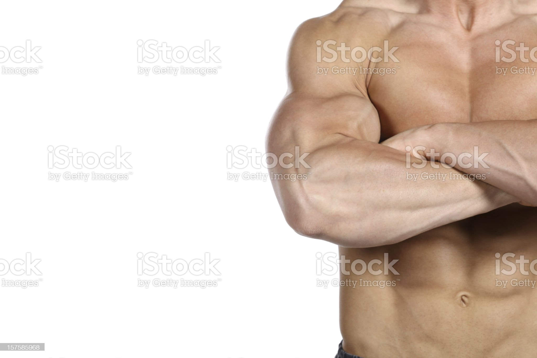 Beautiful muscular male body royalty-free stock photo