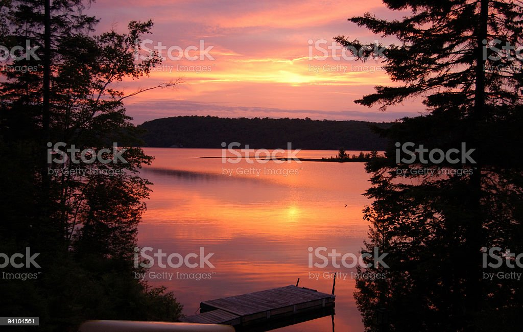 Beautiful Muskoka Sunset stock photo