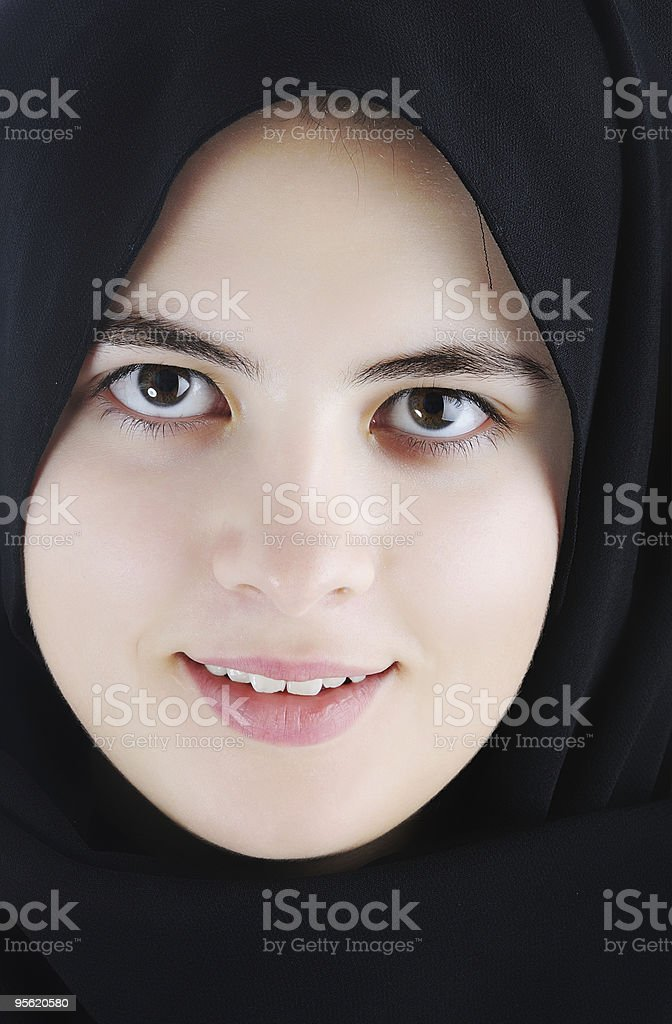 Beautiful muslim girl with scarf on head royalty-free stock photo