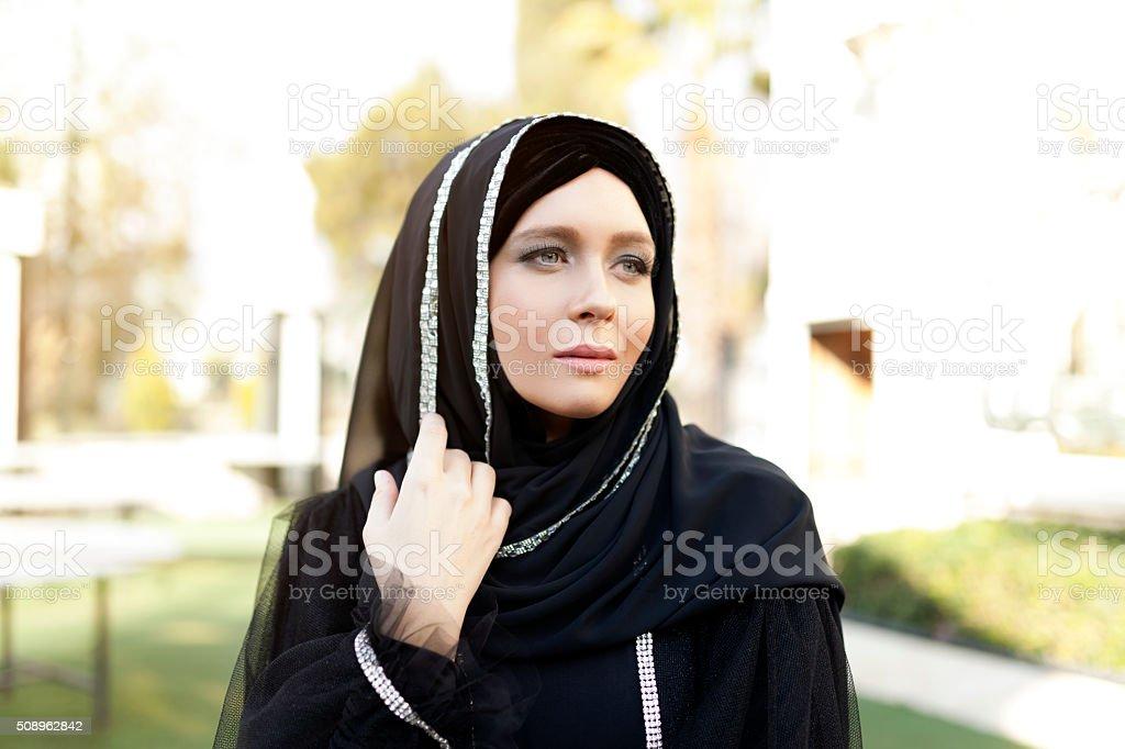 Beautiful Muslim Woman stock photo