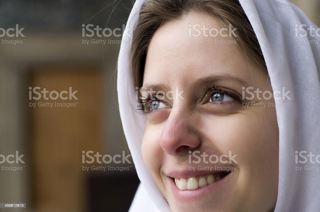 beautiful muslim woman with turban royalty-free stock photo