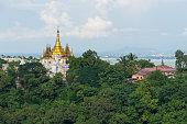 Beautiful Myanmar style monastery at Sagaing city, Mandalay, Myanmar