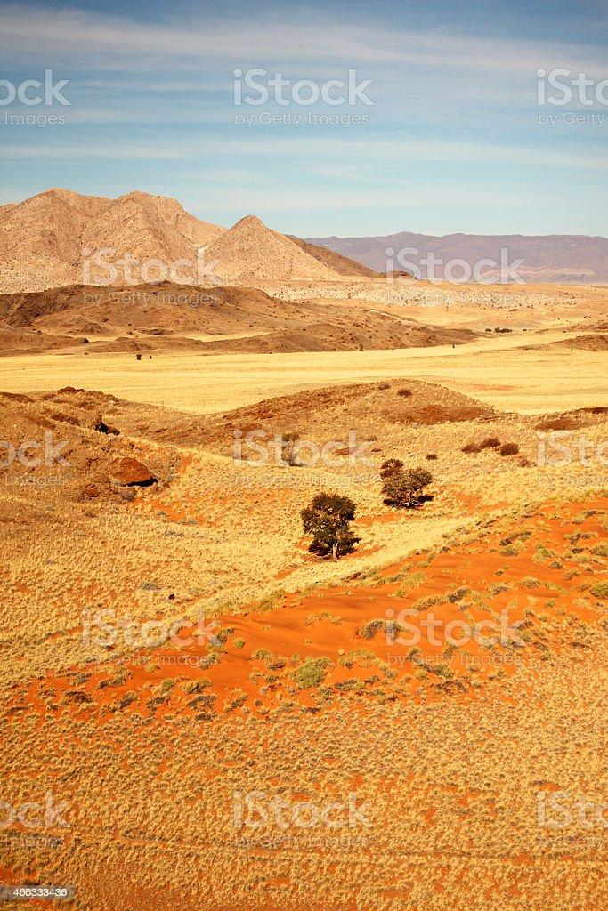 Beautiful Namibian Desert Landscape stock photo