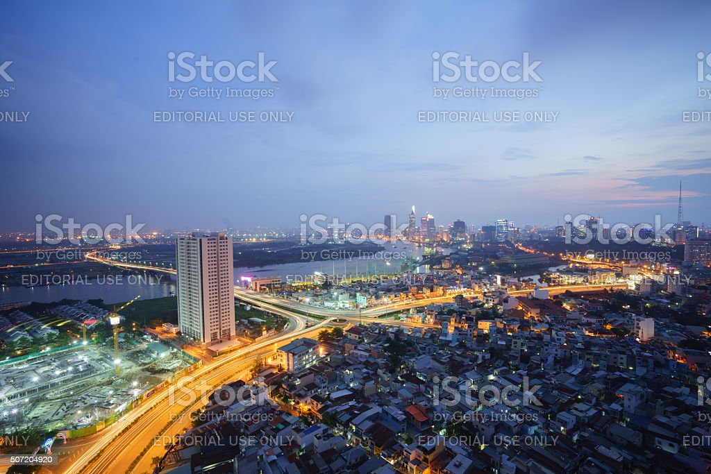 Beautiful National Route highway from high view royalty-free stock photo