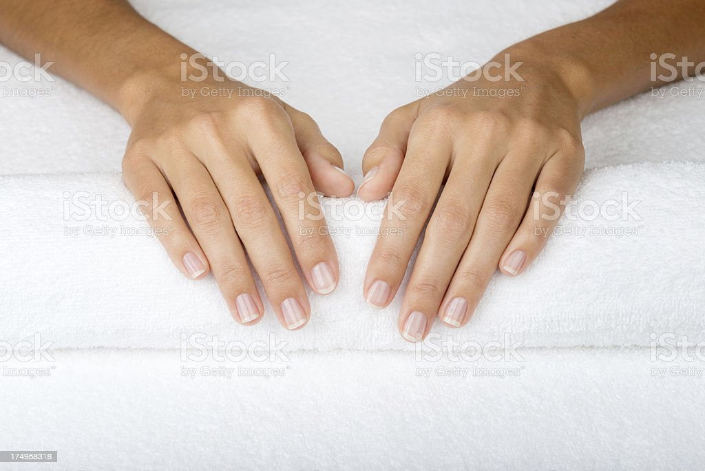 Beautiful Natural Finger Nails (XXXL) stock photo