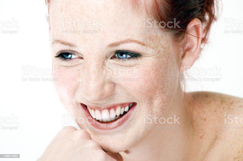 Beautiful Natural Girl Laughing royalty-free stock photo