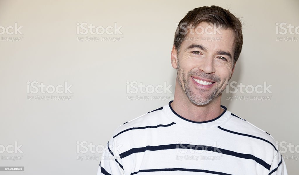 Beautiful Natural Man Smiling stock photo