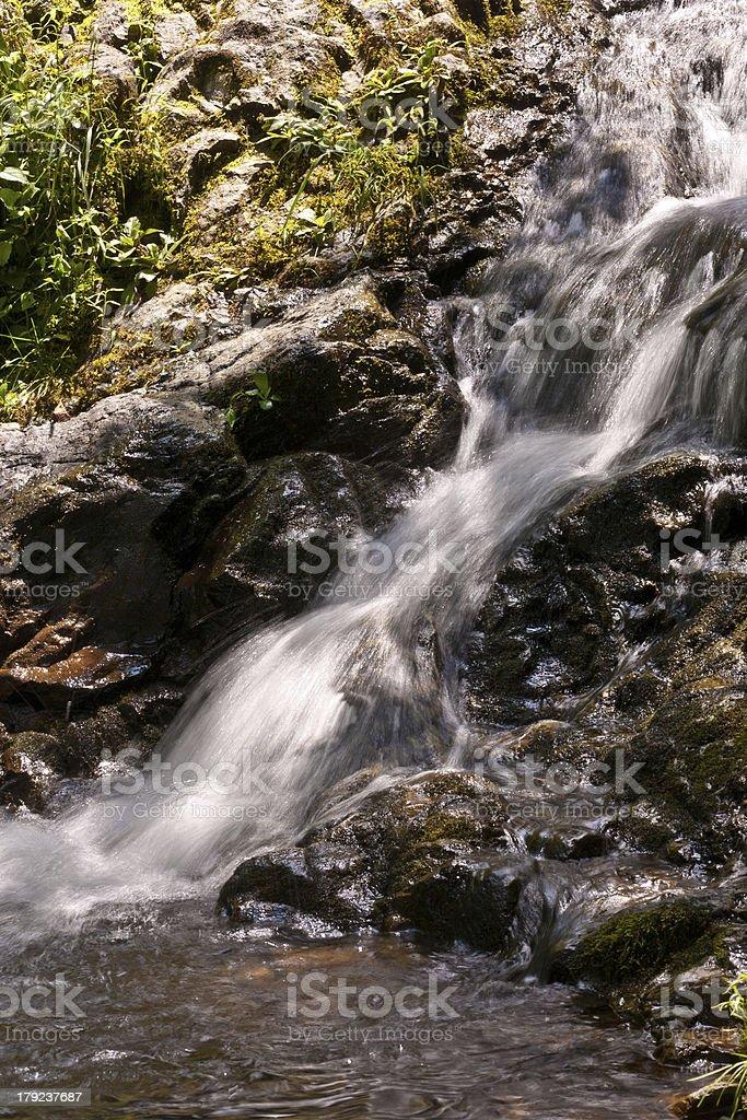 beautiful natural waterfall royalty-free stock photo