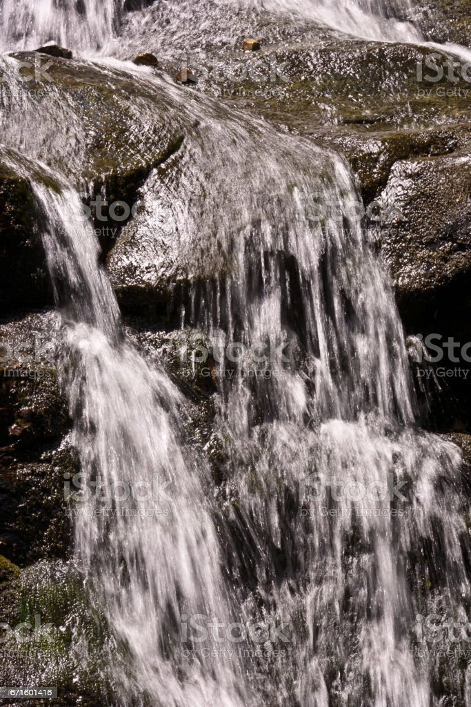 beautiful natural waterfall stock photo
