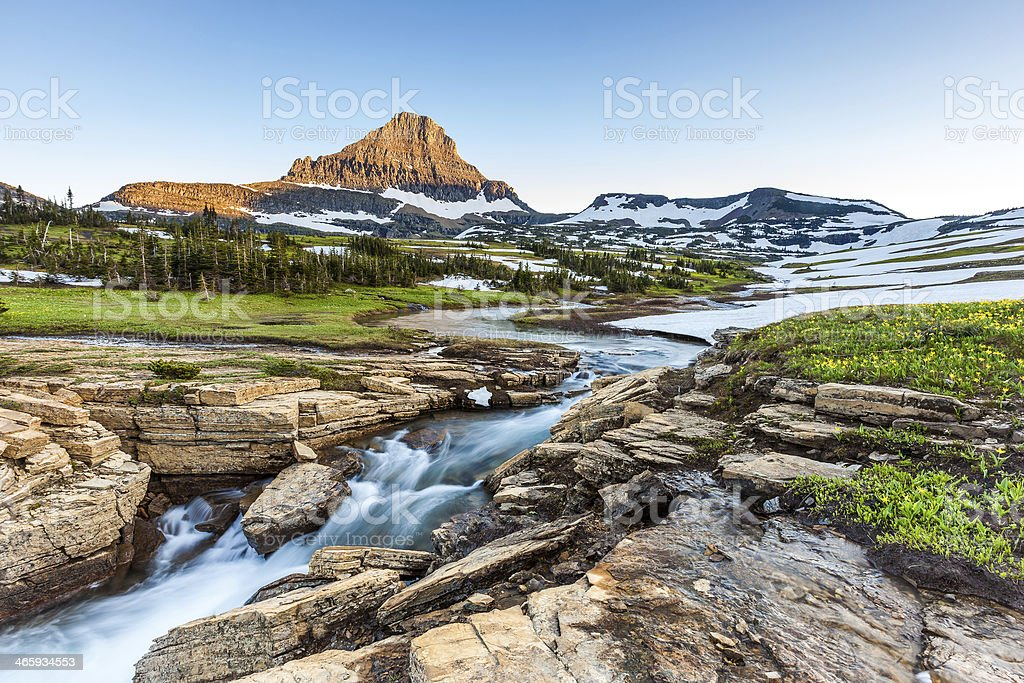 Beautiful nature at Logan Pass, Glacier National Park, MT stock photo