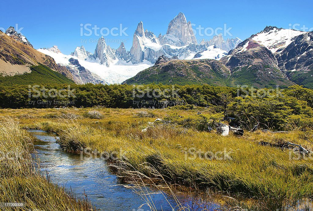 Beautiful nature landscape in Patagonia, South America stock photo