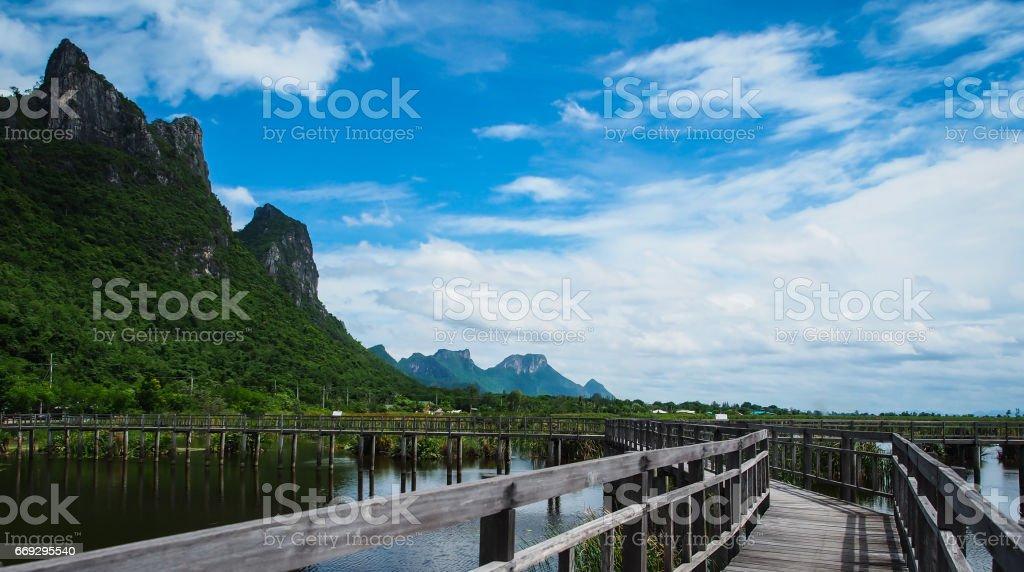 Beautiful nature, mountains in Khao Sam Roi Yot, Prachuap Khiri Khan, Thailand. stock photo