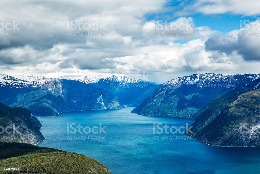 Beautiful Nature Norway - Sognefjorden. stock photo