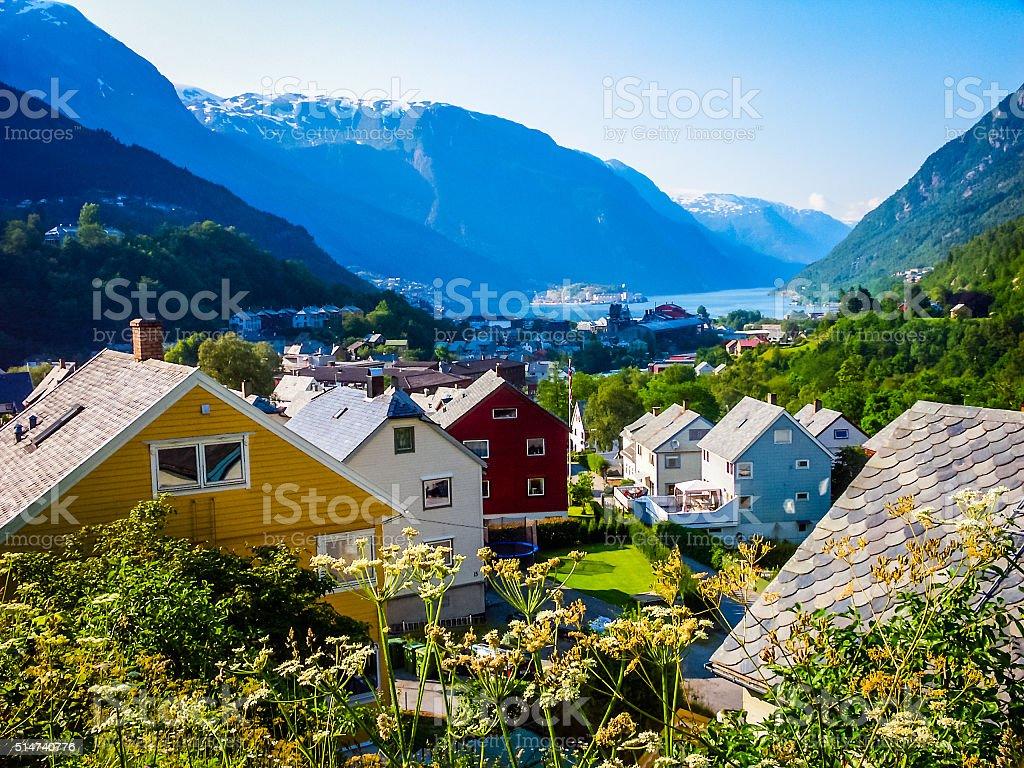 Beautiful nature of Norway stock photo