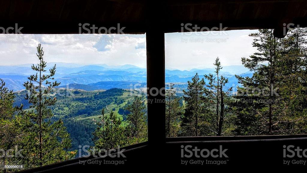 Beautiful nature window royalty-free stock photo