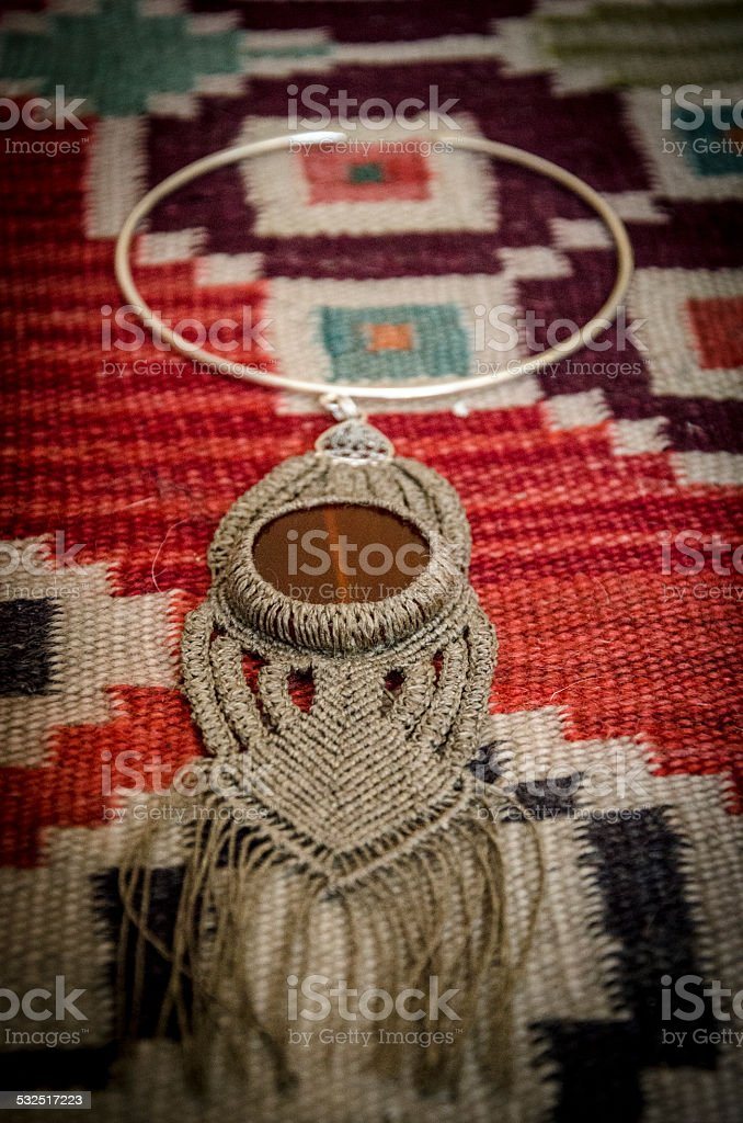 Beautiful necklace stock photo