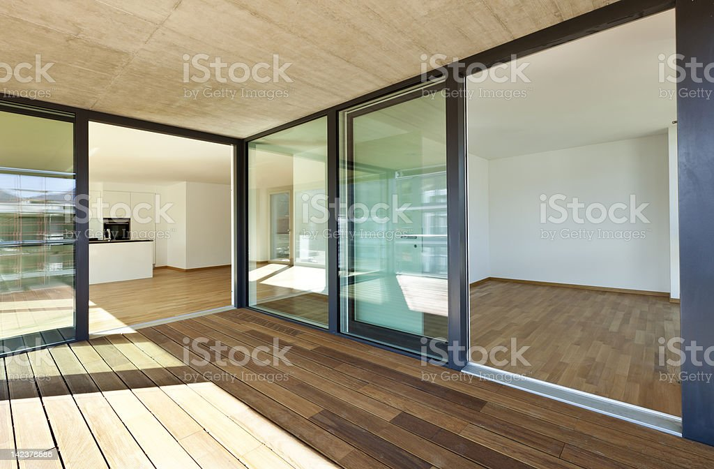 beautiful new apartment, balcony royalty-free stock photo
