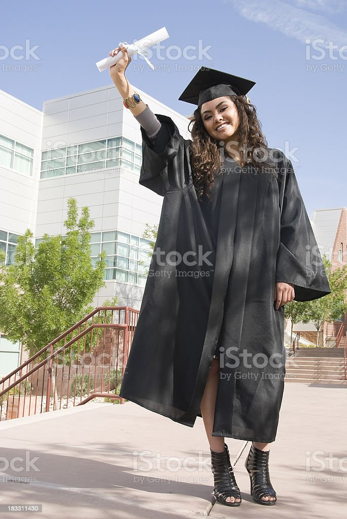 Beautiful New Graduate stock photo