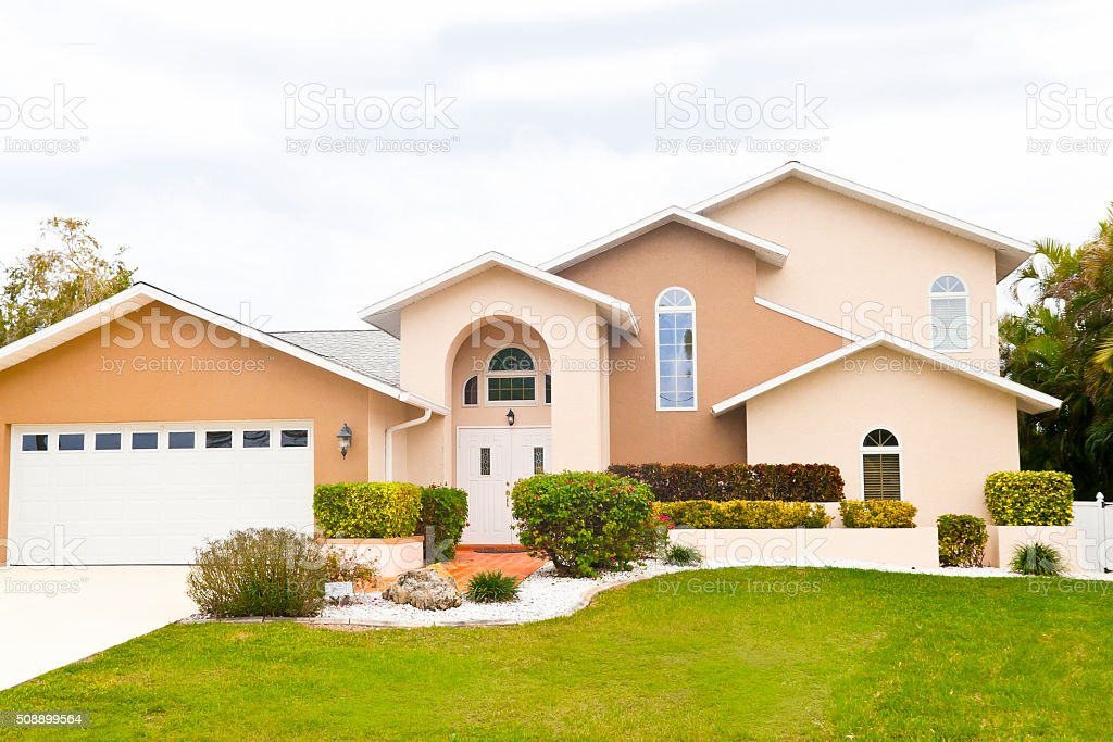 Beautiful New Home in Florida stock photo