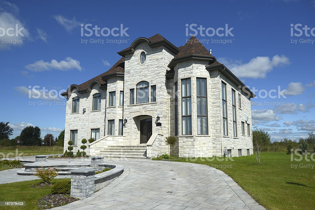 Beautiful New House royalty-free stock photo