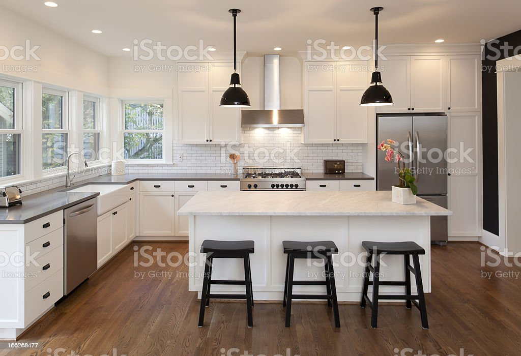 Beautiful New Kitchen stock photo