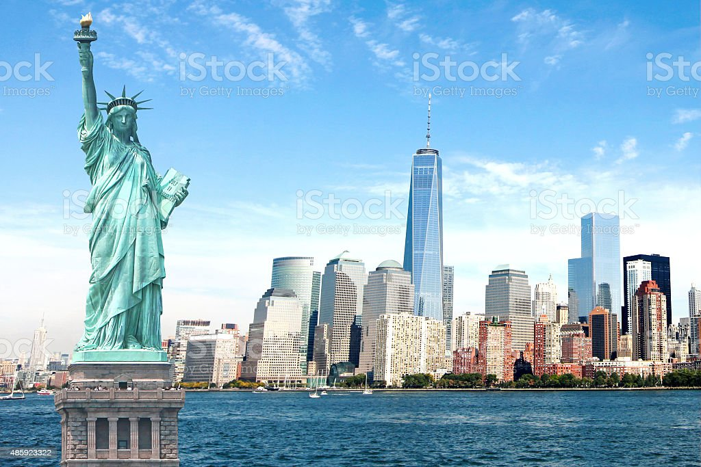 Beautiful NEW New York City Skyline Imagery stock photo