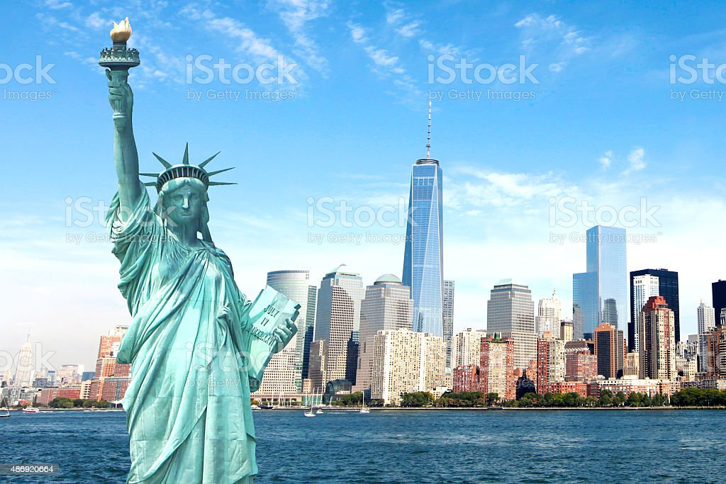 Beautiful NEW New York City Skyline Imagery stock photo