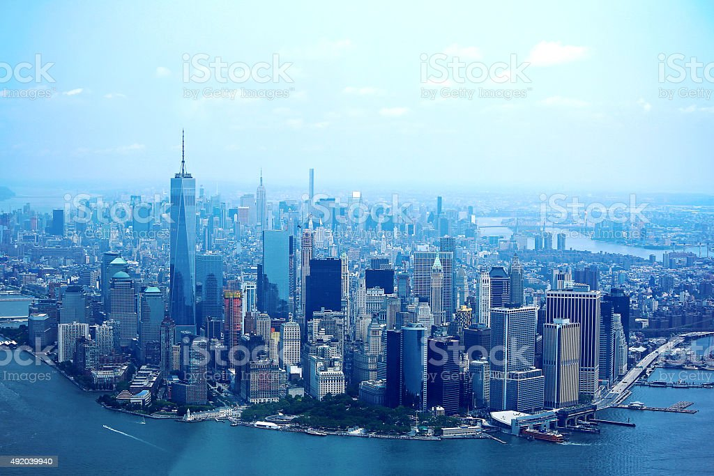 Beautiful NEW New York City Skyline stock photo