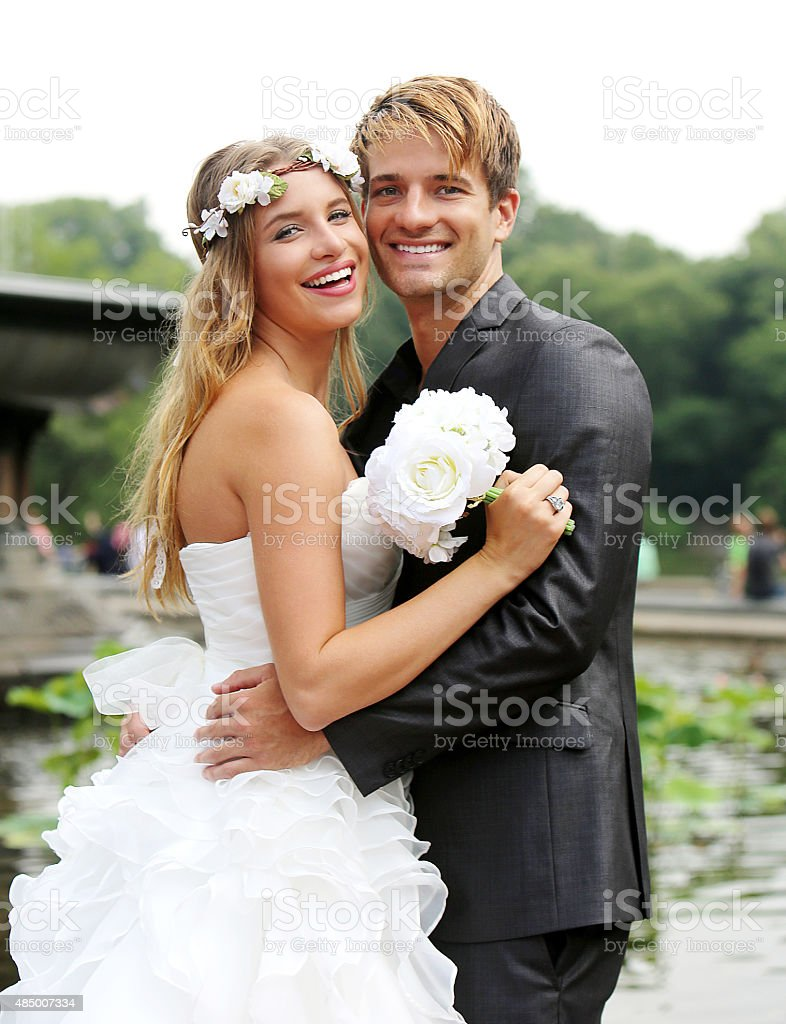 Beautiful NEW NYC Wedding Imagery stock photo