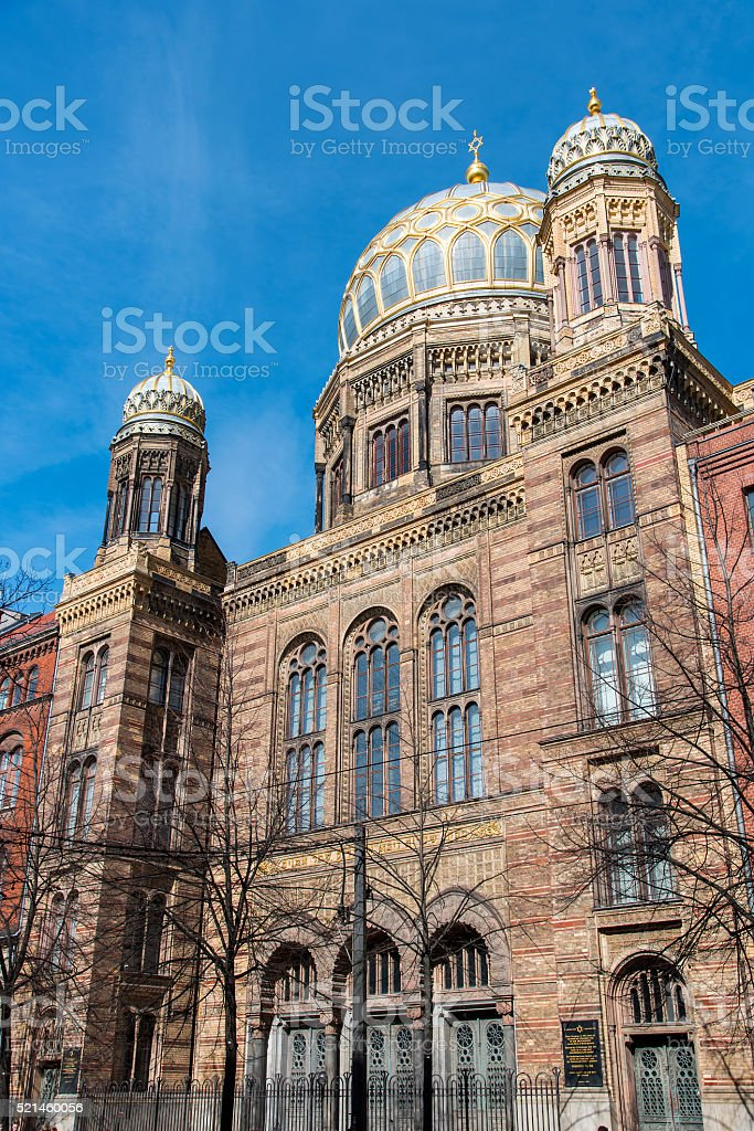 Beautiful New Synagogue in Berlin stock photo