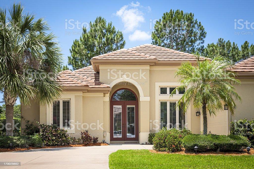Beautiful New Upscale Home stock photo