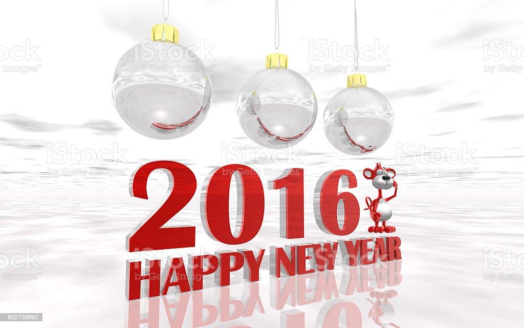 Beautiful New Year card stock photo