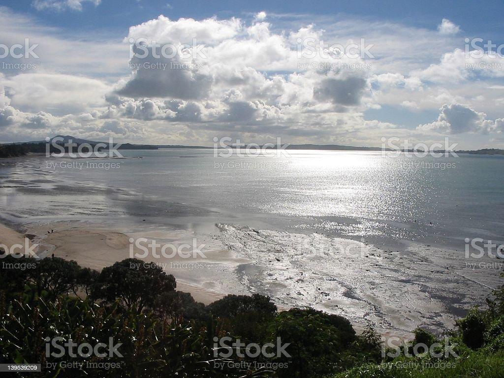Beautiful New Zealand Beach royalty-free stock photo