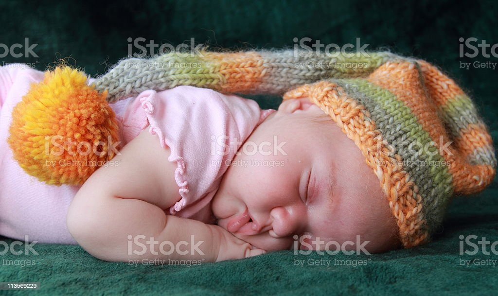 Beautiful newborn baby royalty-free stock photo