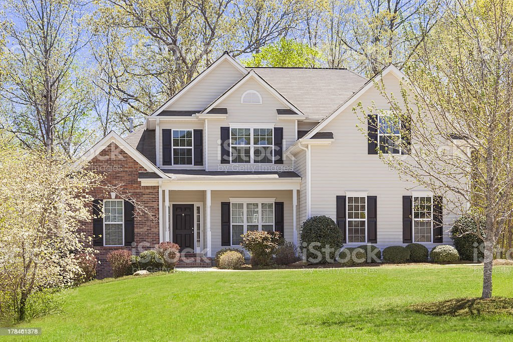 Beautiful Newly Constructed Modern Home stock photo