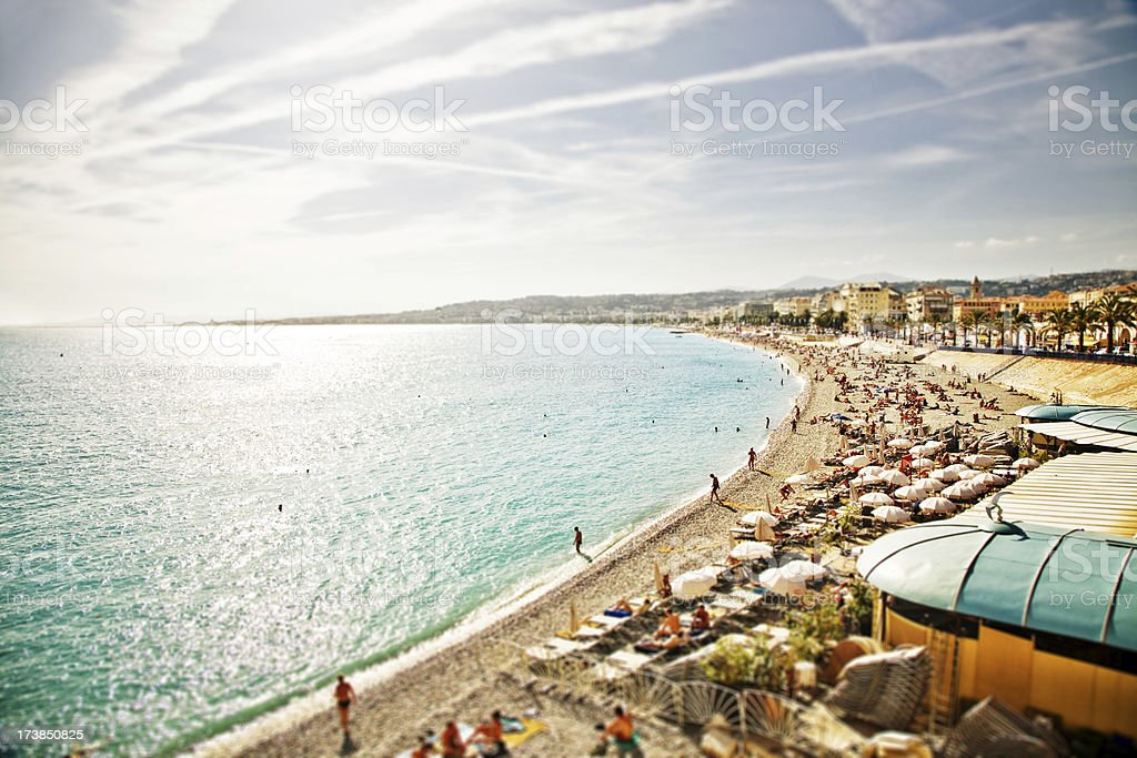 beautiful NICE, France beach stock photo