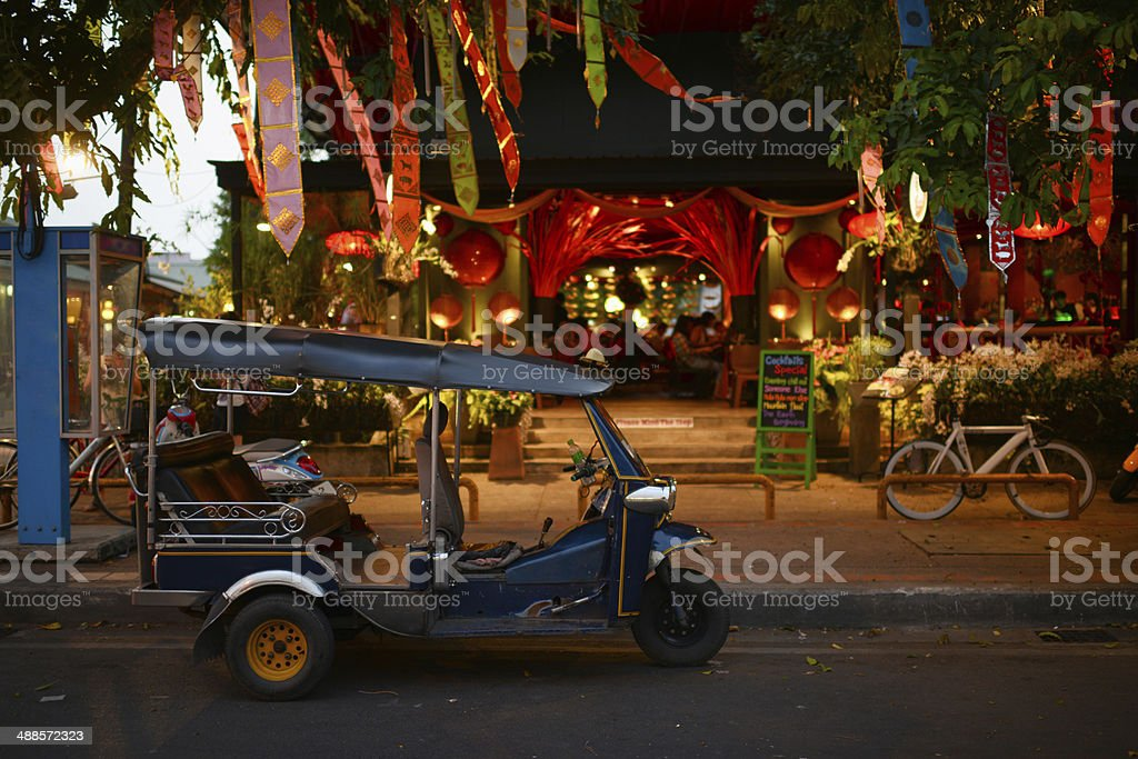 Beautiful Night Scene of Thailand stock photo