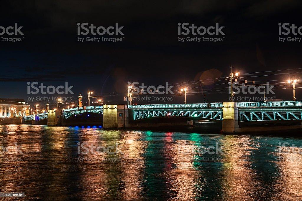 Beautiful night view of Saint-Petersburg, Russia stock photo
