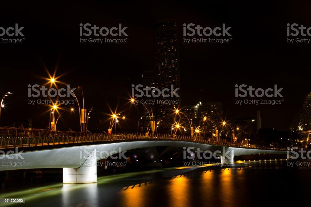 Singapore - March 1, 2017: A beautiful nightlight illuminated by light bulbs. stock photo