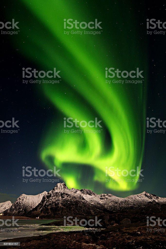 Beautiful northern light stock photo