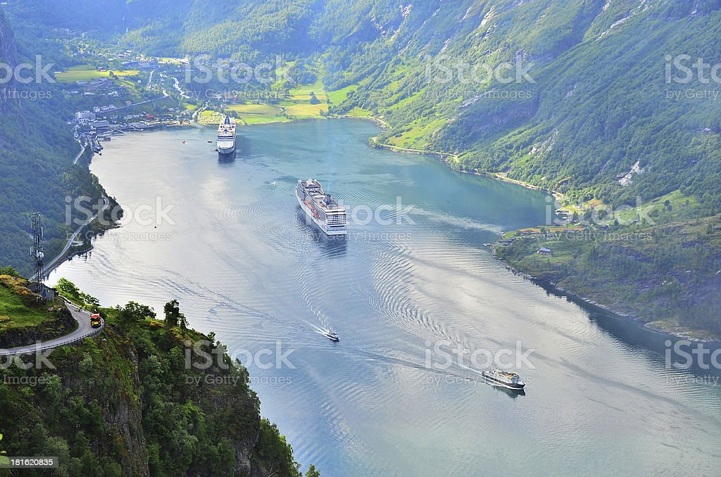Beautiful Norway fjord. royalty-free stock photo