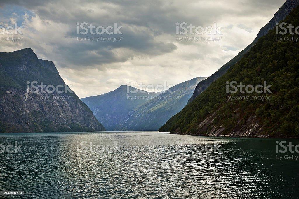 Beautiful Norway, Geirangerfjord stock photo
