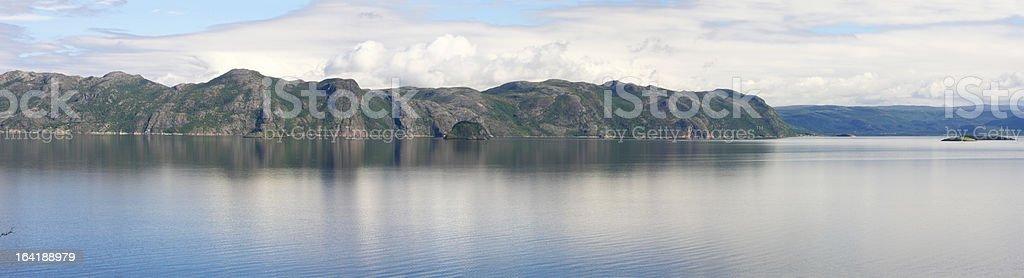 Beautiful Norwegian fjord stock photo