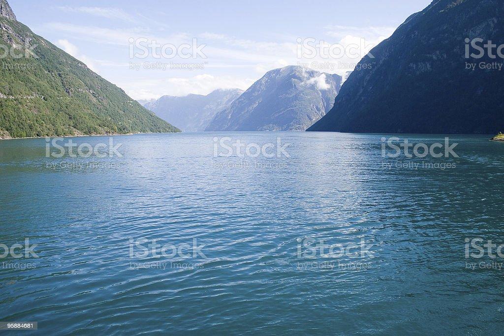 Beautiful Norwegian fjord royalty-free stock photo