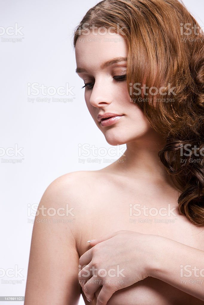 Beautiful nude woman royalty-free stock photo