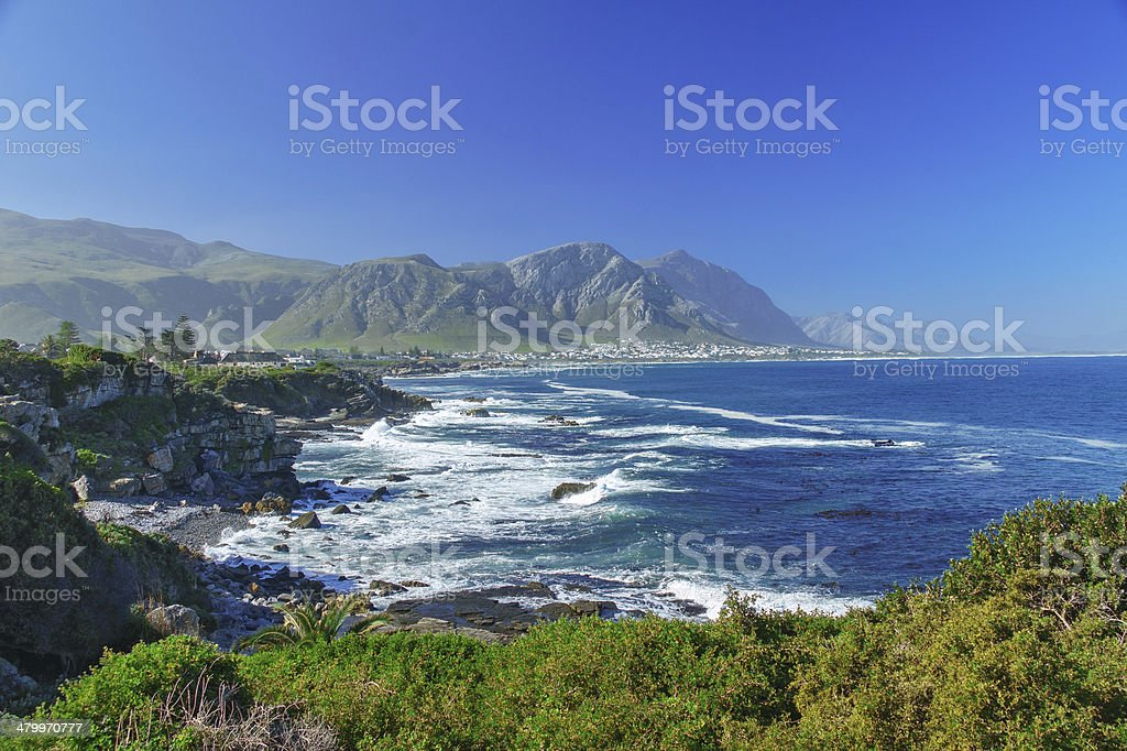Beautiful ocean and coast landscape stock photo