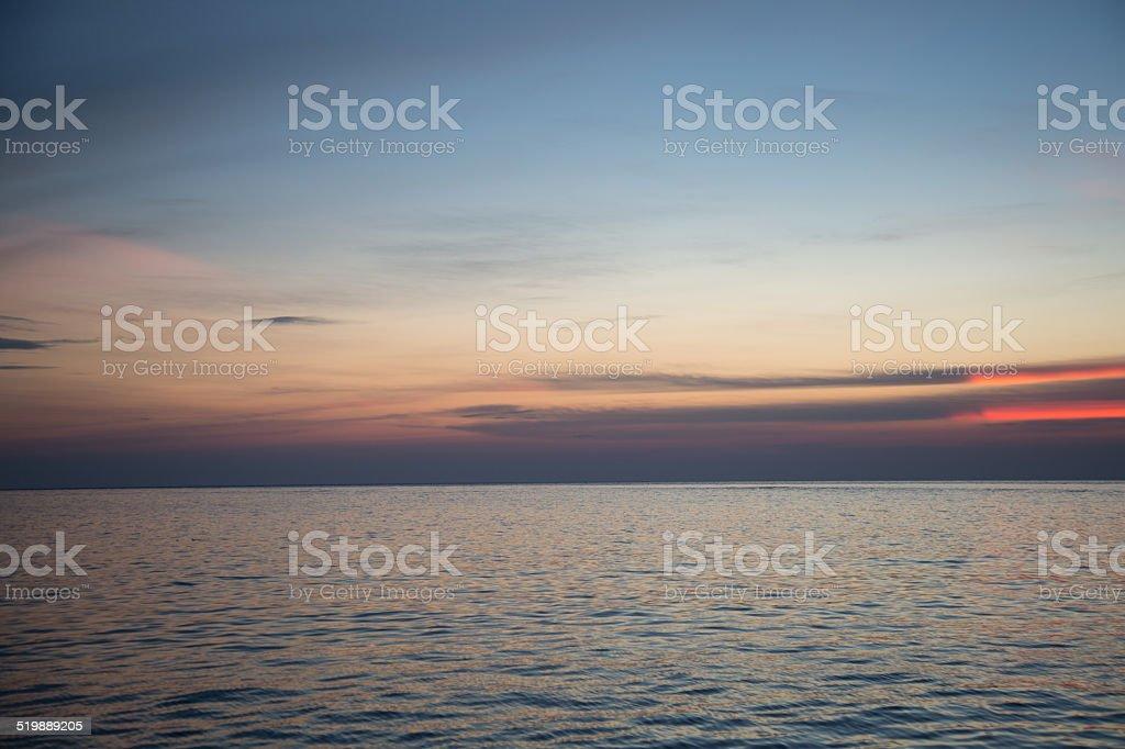 Beautiful ocean and sunset. stock photo