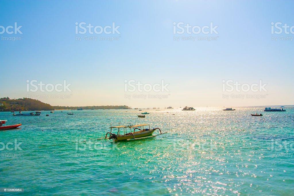 Beautiful Ocean Blue Bali stock photo