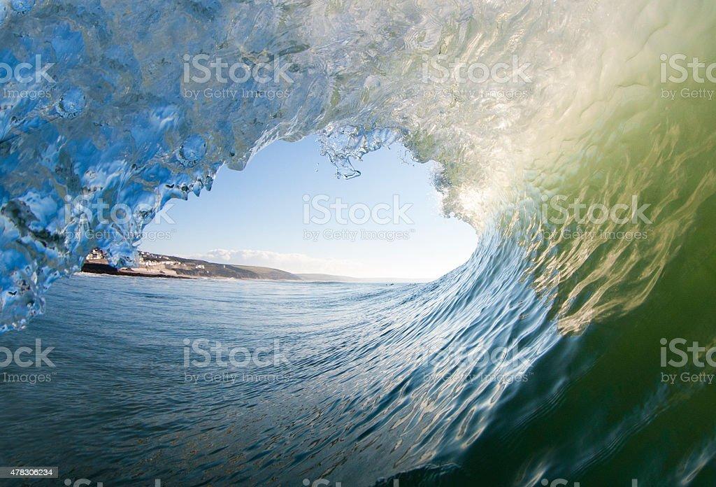 Beautiful Ocean Wave stock photo